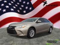 Clean CARFAX. Beige 2016 Toyota Camry LE FWD 6-Speed