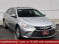Certified. Gray 2016 Toyota Camry XLE FWD 6-Speed