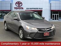 Certified. Predawn Gray Mica 2016 Toyota Camry LE FWD