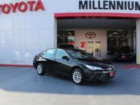 Black 2016 Toyota Camry LE FWD 6-Speed Automatic 2.5L