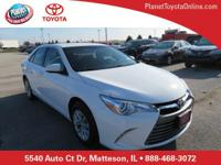 Recent Arrival! 2016 Toyota Camry LE Super White Toyota