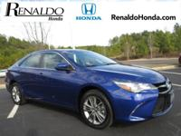 2016 Toyota Camry LE Blue Cloth.  CARFAX One-Owner.