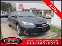 ONE OWNER!! 2016 TOYOTA CAMRY SE!! TOYOTA CERTIFIED 7