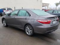 Options:  2016 Toyota Camry Se|Gray|Black W/Fabric Seat