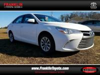 Camry LE and White. Your satisfaction is our business!