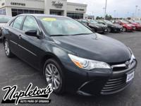 Certified. 2016 Toyota Camry in Cosmic Gray Mica, AUX