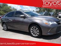 Options:  2016 Toyota Camry Xle|Cosmic Gray Mica/|V4