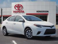 New Price! CARFAX One-Owner. Super White 2016 Toyota