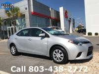 Options:  2016 Toyota Corolla L|Silver|Carfax