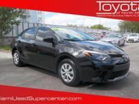Options:  2016 Toyota Corolla L|Black/|V4 1.8 L