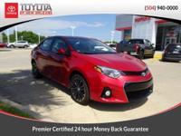 CARFAX One-Owner. Barcelona Red 2016 Toyota Corolla S