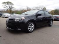 CARFAX One-Owner. Certified. Black 2016 Toyota Corolla