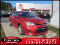 ONE OWNER!! 2016 TOYOTA COROLLA LE!! TOYOTA CERTIFIED 7
