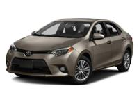 CARFAX One-Owner. Black Sand Pearl 2016 Toyota Corolla