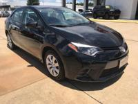 Clean CARFAX. Black 2016 Toyota Corolla LE FWD 4-Speed