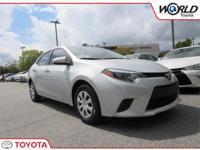 We are excited to offer this 2016 Toyota Corolla. Save