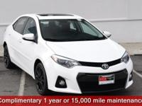 Certified. Super White 2016 Toyota Corolla S Special