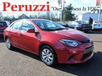 CARFAX One-Owner. Clean CARFAX. Red 2016 Toyota Corolla