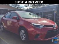 This Corolla features:  Clean CARFAX. CARFAX One-Owner.