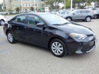 Options:  2016 Toyota Corolla 4Dr Sdn Cvt Le Used|Black