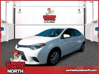 This 2016 Toyota Corolla L is offered to you for sale