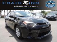 This Toyota Corolla is Certified Preowned! CARFAX