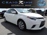 CarFax 1-Owner, This 2016 Toyota Corolla LE will sell