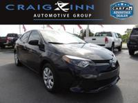 CARFAX 1-Owner! This 2016 Toyota Corolla LE, has a