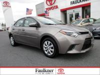 Excellent Condition, CARFAX 1-Owner, Toyota Certified,