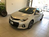 One-Owner. Clean CARFAX. Silver 2016 Toyota Corolla L