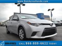 CARFAX One-Owner. Silver 2016 Toyota Corolla LE FWD CVT