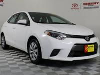 Recent Arrival! 2016 Toyota Corolla LE Certification