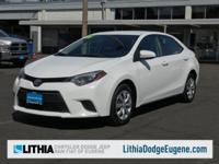 $1,100 below Kelley Blue Book! SUPER WHITE exterior and