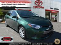 Options:  2016 Toyota Corolla Le|Le 4Dr Sedan|One