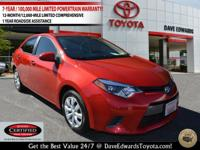 Options:  2016 Toyota Corolla Le|Le 4Dr Sedan|Clean