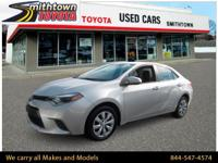 CarFax One Owner! This Toyota Corolla gets great fuel