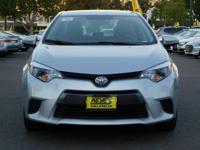 Options:  2016 Toyota Corolla Le|White/Ash|V4 1.8L