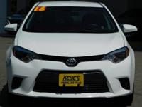 Options:  2016 Toyota Corolla Le|White/Gray|V4 1.8 L