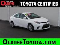 Options:  2016 Toyota Corolla Le|White/|V4 1.8 L
