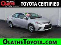 Options:  2016 Toyota Corolla Le|Silver/|V4 1.8 L