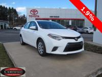 2016 TOYOTA COROLLA LE!! TOYOTA CERTIFIED 7