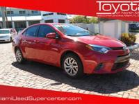 Options:  2016 Toyota Corolla Le|Red/|V4 1.8 L