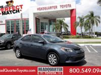 Boasts 38 Highway MPG and 29 City MPG! This Toyota