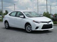 Clean Autocheck and One Owner. Corolla LE, 4D Sedan,
