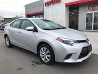 This attractive 2016 Toyota Corolla is a great little
