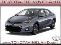 4 Cylinder  Options:  Cvt|This 2016 Toyota Corolla S