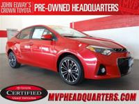 2016 Toyota Corolla S Plus. Just 19k miles and showroom