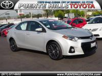*ONE AT THIS PRICE* and previous rental. Corolla S