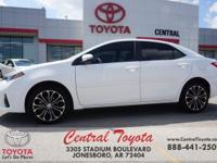 Clean CARFAX. White 2016 Toyota Corolla S Plus 4D Sedan