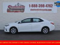 Options:  2016 Toyota Corolla S|Clean Carfax|One
